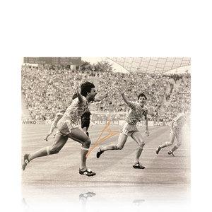 Ruud Gullit gesigneerd Nederlands elftal foto -  EK'88 finale