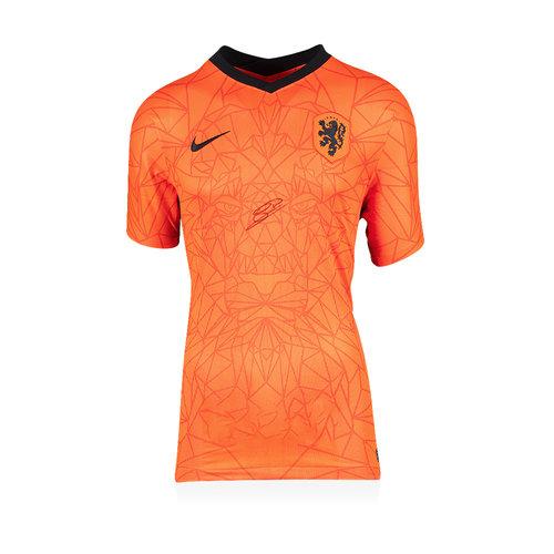 Georginio Wijnaldum gesigneerd Nederland shirt 2020-21