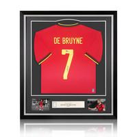 Kevin De Bruyne gesigneerd België shirt 2020-21 - ingelijst