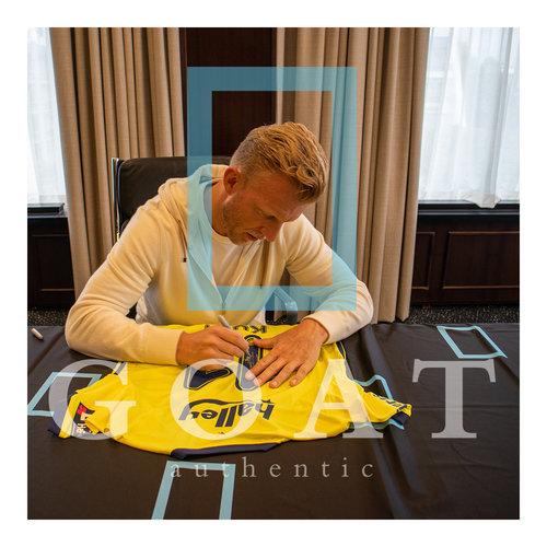 Dirk Kuyt gesigneerd Fenerbahçe shirt - ingelijst