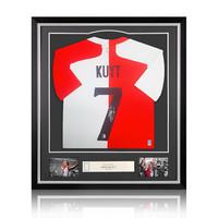 Dirk Kuyt gesigneerd Feyenoord shirt - ingelijst
