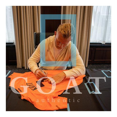 Dirk Kuyt gesigneerd Nederlands elftal WK 2010 - ingelijst