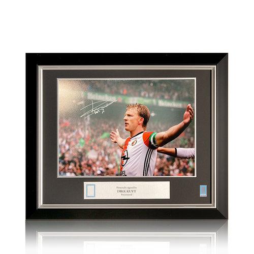 Dirk Kuyt gesigneerd Feyenoord foto landkampioen 2016-17 - ingelijst