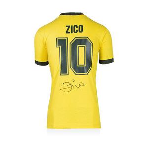 Zico gesigneerd Brazilië WK 1982 shirt