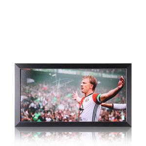 Dirk Kuyt gesigneerd Feyenoord panoramafoto landskampioen 2016-17 - ingelijst