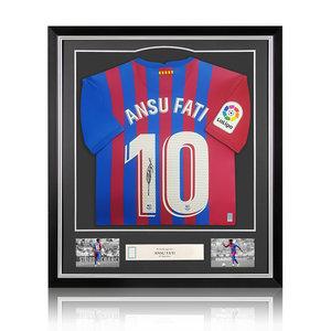 Ansu Fati gesigneerd FC Barcelona shirt - ingelijst