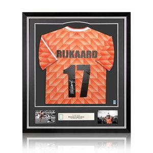 Frank Rijkaard gesigneerd Nederland EK'88 shirt - ingelijst