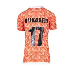 Frank Rijkaard gesigneerd Nederland EK'88 shirt