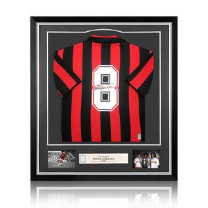Frank Rijkaard gesigneerd AC Milan shirt - ingelijst
