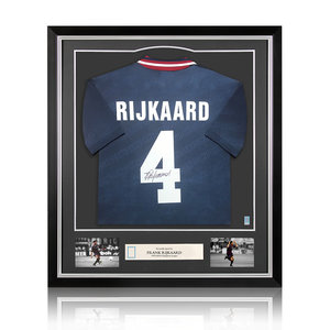Frank Rijkaard gesigneerd Ajax shirt - ingelijst