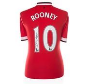 De Hand Van Maradona Wayne Rooney gesigneerd shirt Manchester United