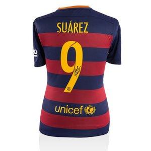 Luis Suárez gesigneerd FC Barcelona 2015-16 shirt