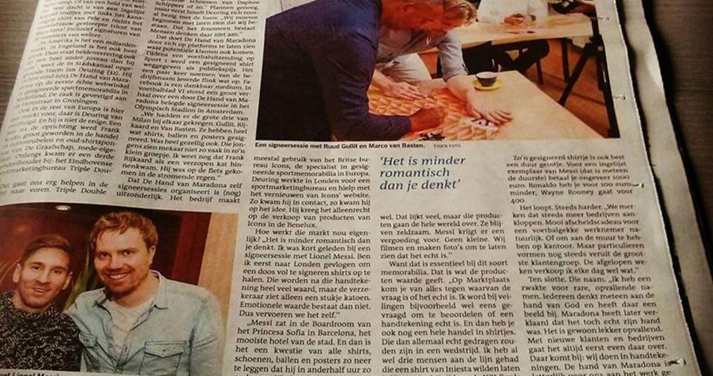 Dagblad v/h Noorden: Handel in sportemotie