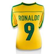 Ronaldo Gesigneerd Brazilië WK 1998 Shirt