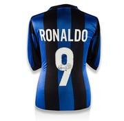 De Hand Van Maradona Ronaldo Gesigneerd Internazionale Shirt