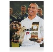 De Hand Van Maradona Ronaldo Gesigneerde Real Madrid Foto