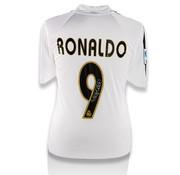 De Hand Van Maradona Ronaldo Gesigneerd Real Madrid Shirt