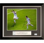 De Hand Van Maradona Lionel Messi en Sergio Agüero gesigneerde Argentinië foto