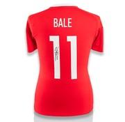 De Hand Van Maradona Gareth Bale gesigneerd Wales EURO 2016 shirt