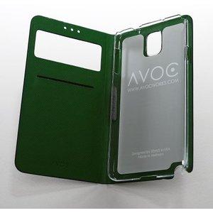 Avoc Galaxy Note 3 Masstige Nuovo Diary Avoc Marineblauw