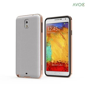 Avoc Galaxy Note 3 Bumper Solid Avoc (Gold Version) - Gold / White