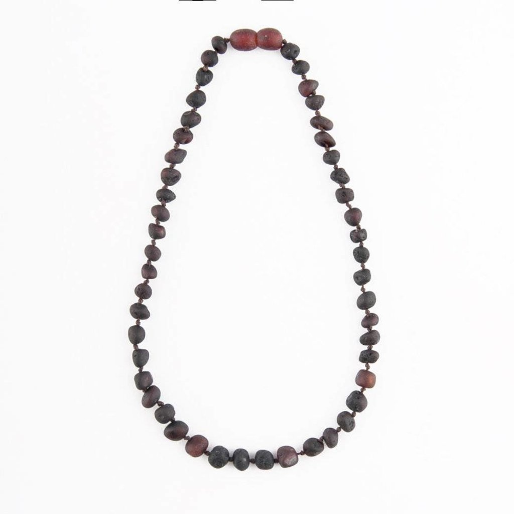 barnsteen Barnsteenketting - Raw Black Cherry