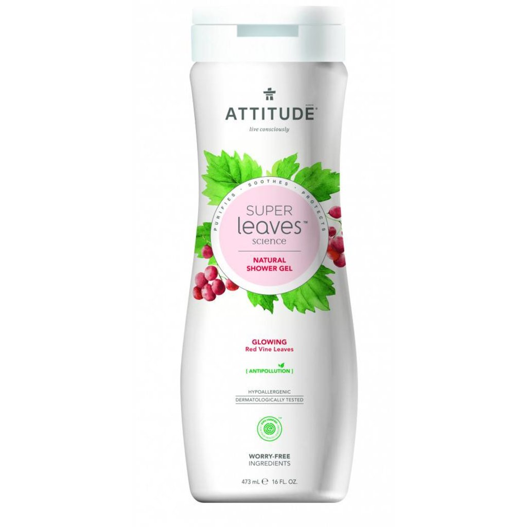 attitude Super leaves - shower gel - glowing