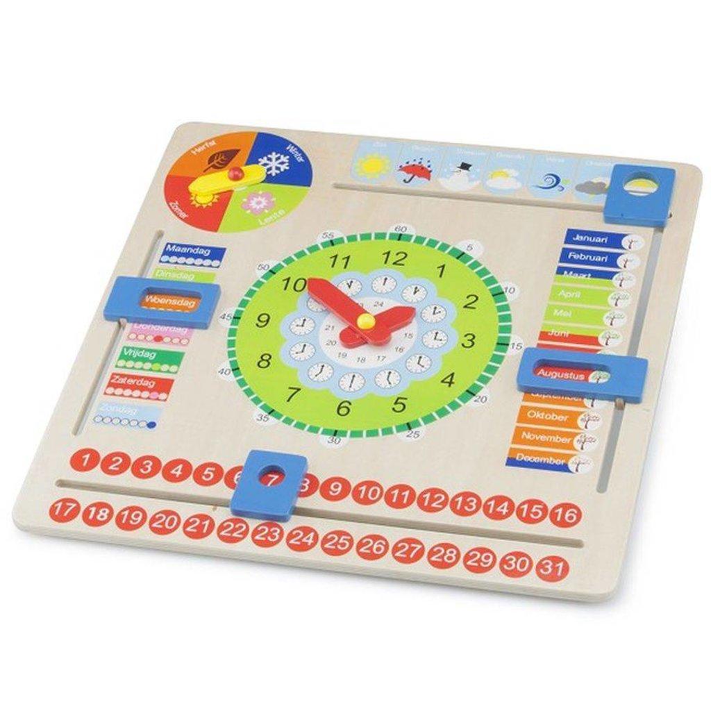 New Classic Toys Educatieve kalenderklok