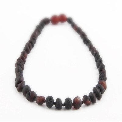 barnsteen Barnsteenketting Volwassenen - Raw Black Cherry
