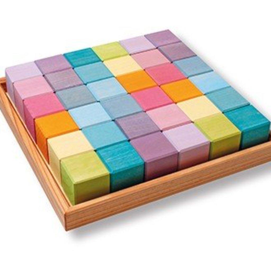 Grimm's Bouwblokken vierkant - pastel