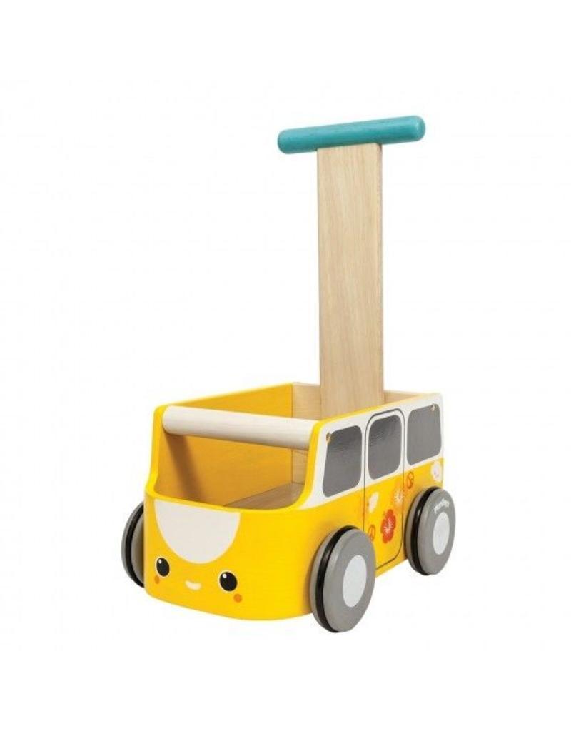 plantoys Geel loopwagentje