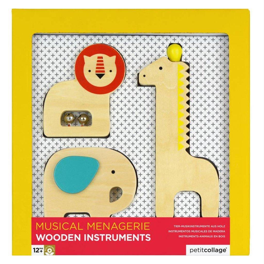 petit collage Houten muziekinstrumenten