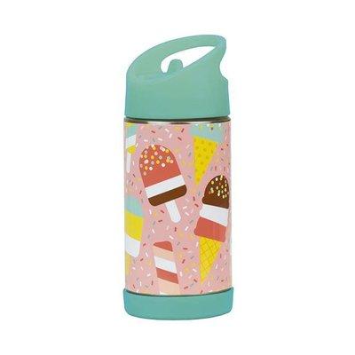 petit collage Drinkfles met rietje - ijsjes