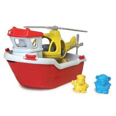 green toys Reddingsboot met helikopter