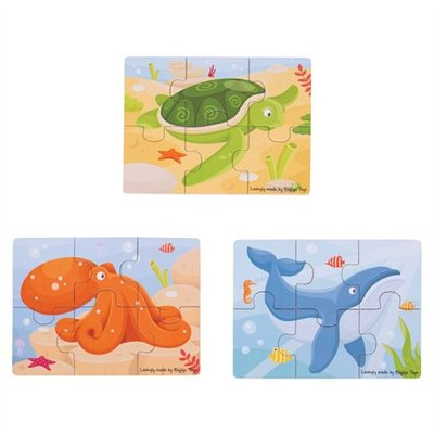 bigjigs toys 6- delige puzzels zeedieren