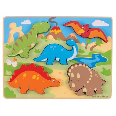 bigjigs toys Inlegpuzzel Dinosaurussen