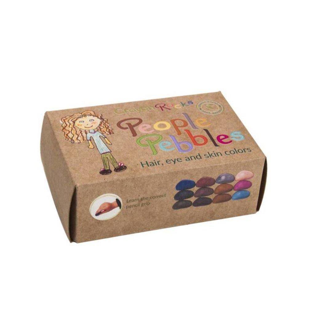 crayon rocks People Pebbles (12 stuks)