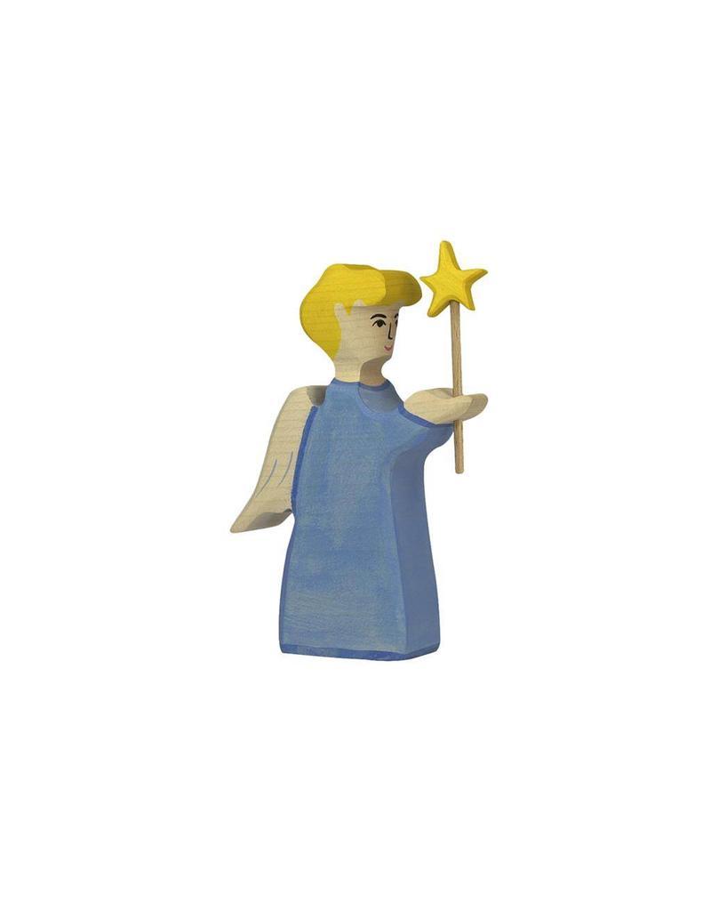 Holztiger Engel met ster