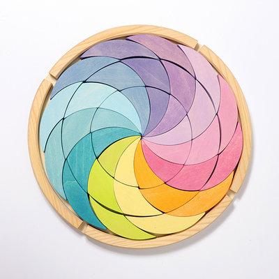 Grimm's Bouwset spiraal Pastel