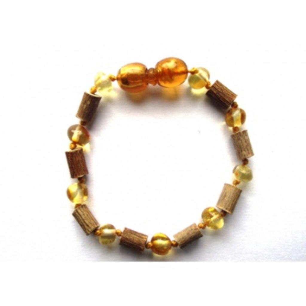 barnsteen Barnsteen/Hazelaar armbandje - Honing