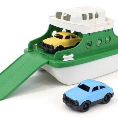 green toys Groene Ferry Boot Met Auto's