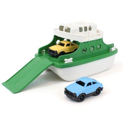 green toys Groene Ferry Boot Met Auto's
