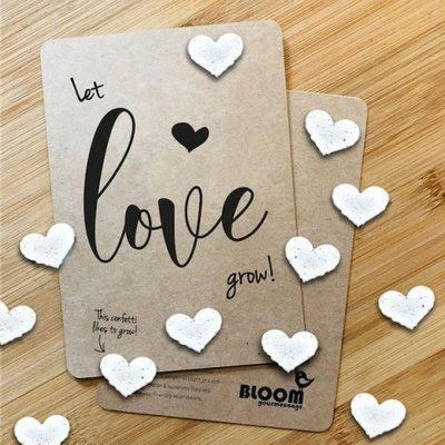 bloom Confetti kaart love