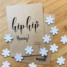 bloom Confetti kaart hooray