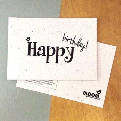 bloom Groeikaart Happy Birthday