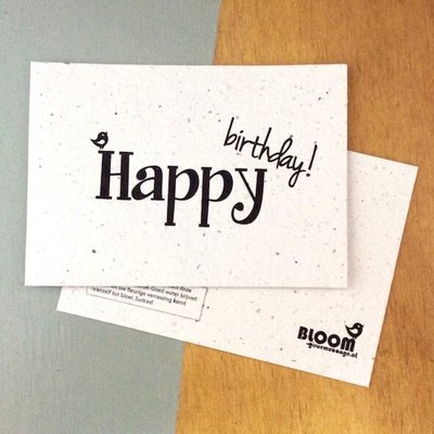 bloom Groeikaart Happy Birthday