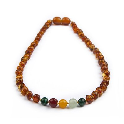 barnsteen Ketting - Honey Malachiet Topaz