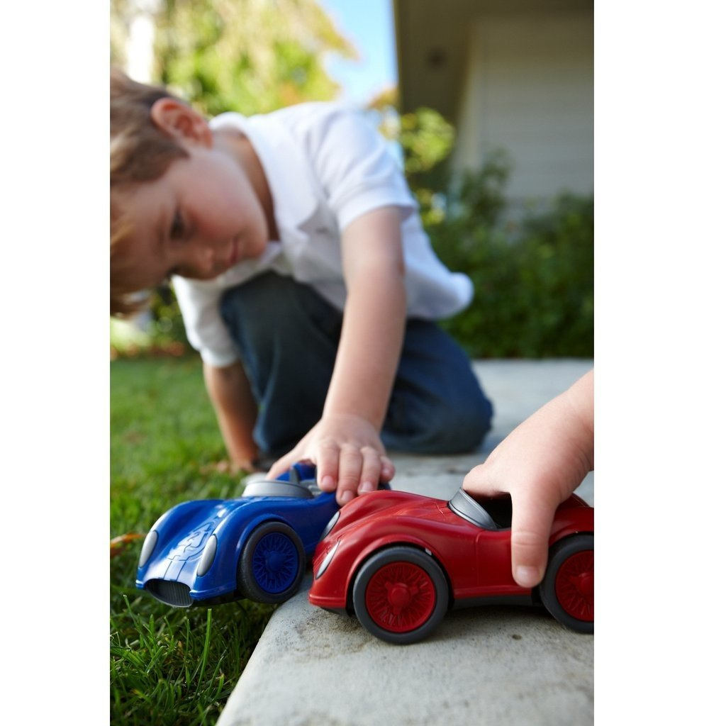 green toys Blauwe Racewagen