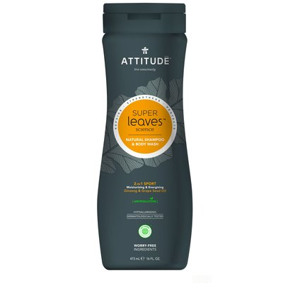 attitude Super Leaves - Shampoo - 2in1 Sport