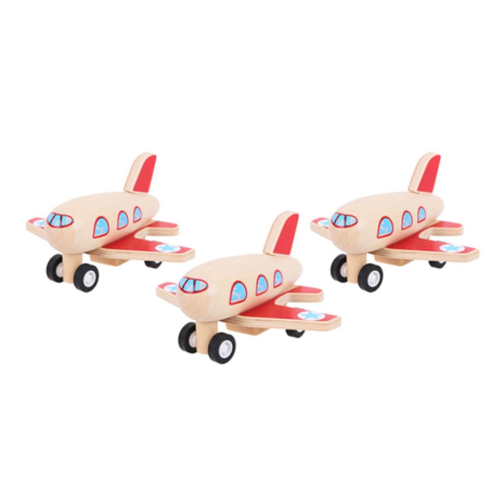 bigjigs toys Pull back Vliegtuigje